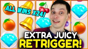 SLOTS large WINS: EXTRA JUICY – YES, WE GOT A RETRIGGER!