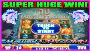 **SUPER large WIN!** SO MANY UNICORNS! Mystical Unicorn WMS Slot Machine Bonus