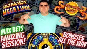 Spielautomat Max Bet Boni & großer Gewinn | Live Slot Play At Casino Bonus | Ultra Hot Mega Link, Drachen Link