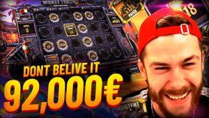 Streamer Huge Win 92 000€ on Money educate 2 – Top 5 Best wins of the calendar week slots