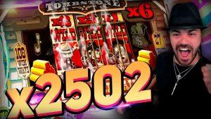Streamer Huge Win x2502 on Tombstone – Top 5 Best wins of the calendar week slots