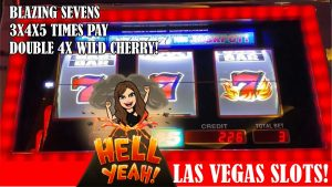 large WIN – BLAZING SEVENS! LIVE SLOT MACHINE PLAY – 3X4X5 TIMES PAY, DOUBLE 4X WILD CHERRY!