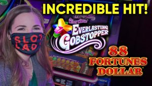 large WIN! Incredible Line hitting! Everlasting Gobstopper Slot Machine!