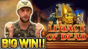 large WIN!!! LEGACY OF DEAD large WIN – €5 bet on casino bonus slot from CasinoDaddys current