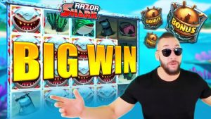 large WIN! RAZOR SHARK – €50 bet on casino bonus Slot!