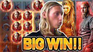 large WIN!!! VIKINGS large WIN – €5 bet on casino bonus slot from NetEnt on live flow