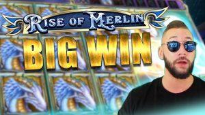 large WIN! total covert on ascension of Merlin slot! Online casino bonus Highlight!