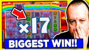 *omg* I got a large WIN on RAINBOW RICHES (high stakes)