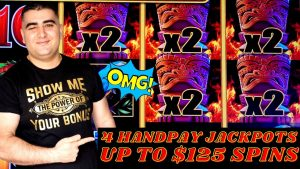 upward To $125 A Spin Lightning Link Slot Play & 4 HANDPAY JACKPOTS – Huge High bound Slot Play inwards Vegas