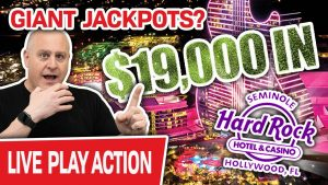 🔴 $19,000 High-boundary LIVE current Slot Play! 🤑 GIANT JACKPOTS at Hard stone Hollywood?