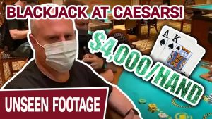 🃏 1st TIME EVER BLACKJACK at Caesars! 🃏 upwardly to $4,000 Per paw – INSANITY