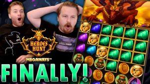 Finally a large WIN BONUS on Heroes Hunt! (€10 bet)