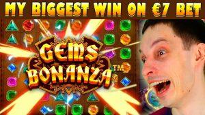 GEMS BONANZA MY BIGGEST BONUS WIN, WITHOUT BONUS purchase!