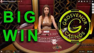 Grosvenor casino bonus large win at Blackjack Live Dealers