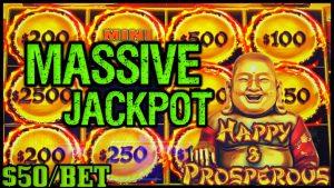 HIGH bound Dragon Cash Link HAPPY & PROSPEROUS MASSIVE HANDPAY JACKPOT 🐲$50 Bonus circular Slot Machine