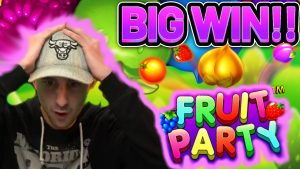 HUGE WIN!! FRUIT political party large WIN – €5 bet on casino bonus slot from CasinoDaddys flow