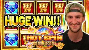 HUGE WIN!! HOT SPIN DELUXE large WIN – casino bonus Slot from CasinoDaddys flow