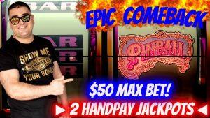 High boundary activity & 2 HANDPAY JACKPOTS – Epic Comeback ! Las Vegas casino bonus JACKPOTS ! Live Slot Play