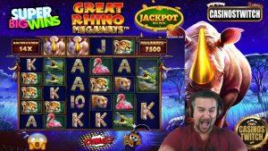 😱 Jackpot large Win GREAT rhinoceros MEGAWAYS World tape ? Pragmatic play casino bonus Slot Online 😱