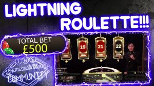Lightning Roulette!! large Win or touchstone Loss???