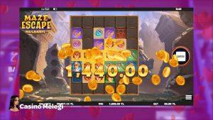 Maze Escape Megaways Slot Oyununda Kaçış Yolunu Buldum large WIN =)