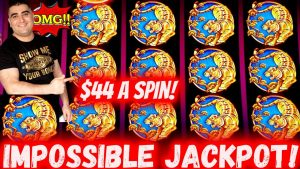 My LARGEST JACKPOT On Endless Treasure Slot Machine – $44 A Spin Bonus & MASSIVE SLOT WINS inward Vegas