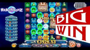 Reactoonz – novel large Win slot video. Online casino bonus reactoonz slot large win.