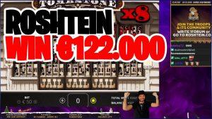 Roshtein Win €122.000 on Tombstone Slot – Insane casino bonus large Wins
