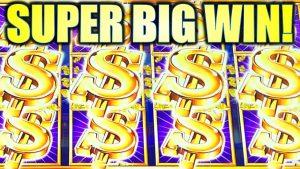 SUPER large WIN! YES!! I GOT THE 4 WILD REELS! $5.00 BET DOLLAR STREAK Slot Machine (AINSWORTH)