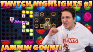 TWITCH HIGHLIGHTS #1 – SUPER large WIN on JAMMIN JARS! Persistent Collector on MONEYTRAIN 2!