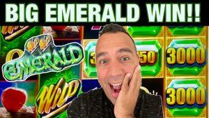 🍀 Wild Wild Emerald large WIN!!  Rising Fortunes & Getcha money 💰