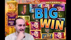 large WIN!!! Queen of Hearts Huge Win – casino bonus Games from MrGambleSlots Live flow