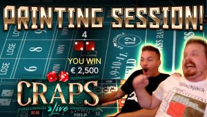 large WIN SESSION on Craps Live!