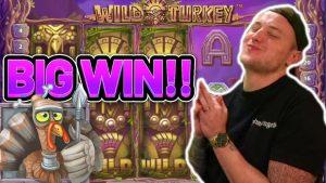 large WIN!!! WILD TURKEY large WIN – €5 bet on casino bonus slot from CasinoDaddys flow