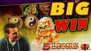 large WIN on 5 Lions Slot – £2.50 Bet