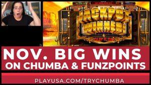 large WINS 🎉 CHUMBA casino bonus 🎰 FUNZPOINTS 💰Online Slot large Wins For Nov