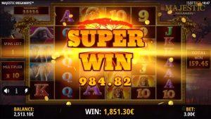 large win inward casino bonus slot Majestic Megaways