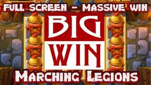 tape large Win on Marching Legions slot | Online casino bonus existent money. large win casino bonus slot.