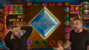 $25,000 GEMS BONANZA BONUS BUYS | $100,000+ large WIN!  | Online Slots
