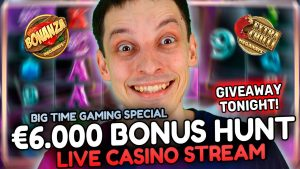 ALL inward FOR A large WIN! LIVE casino bonus flow – SLOTS with mrBigSpin!