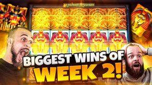 BIGGEST WINS OF calendar week 2! | Insanity Wins on Online Slots
