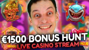"""BONUS HUNT kazino premijos srautas! Dideli laiko tarpsniai Laimi su """"mrBigSpin""""!"""