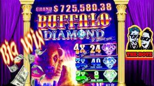 BUFFALO DIAMOND💎large WIN BONUS★casino bonus GAMBLING WITH THE BOYZ!