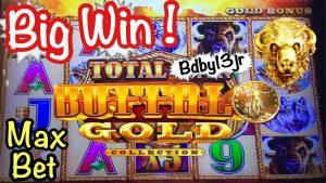 BUFFALO atomic number 79 – Max Bet   large WIN @ HARRAHS casino bonus – Buffalo SLOTS