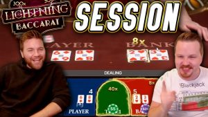 Lightning BACCARAT Session with large WINS!