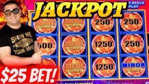Lightning Link Slot Machine ✦HANDPAY JACKPOT✦ – $25 Max Bet | High boundary Slot Machine Jackpot !EP-27