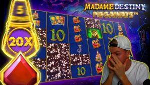 MADAME DESTINY MEGAWAYS – 20X BONUS & large WIN!
