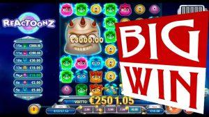 MEGA large WIN on REACTOONZ slot | Best wins of the calendar week casino bonus