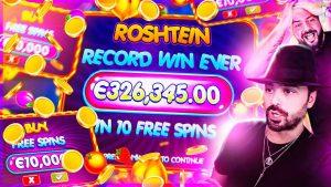 ROSHTEIN Biggest win ever €326.000 on Fruit political party slot €100 Bonus purchase INSANE x3263 WIN