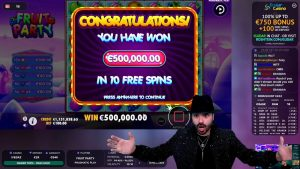 Roshtein 500 000€ Win On FRUIT political party ◆ WORLD tape WIN EVER ◆ 1 meg Balance